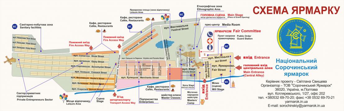 План-схема Сорочинського ярмарку