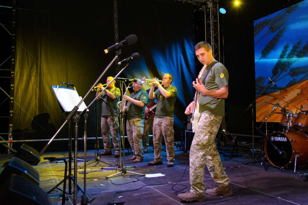 концерт оркестру 58-ї окремої мотопіхотної бригади та кавер-гурту «Даггер»